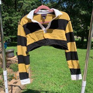 Super Cropped Polo Shirt.